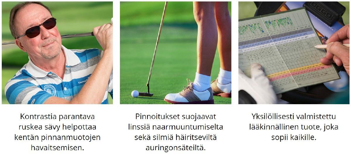 Pro golf linssin ominaisuudet