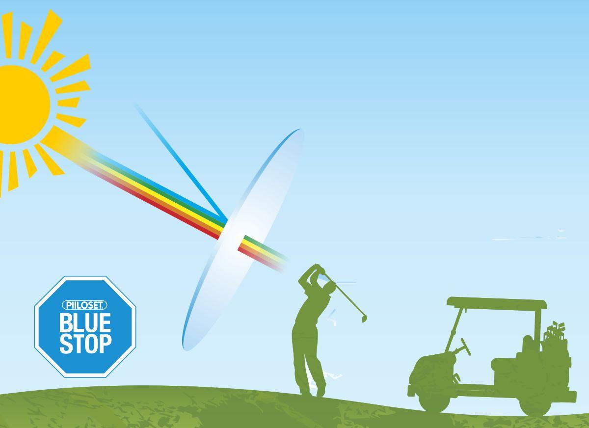 bluestop golflinssimateriaali