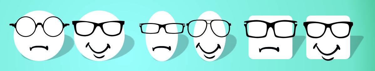 kasvoille sopivat silmälasikehykset